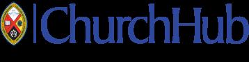 United Church Crest and ChurchHub Wordmark in blue